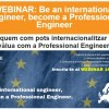 AQPE WEBINAR 16 de maig: Be an international engineer, become a Professional Engineer